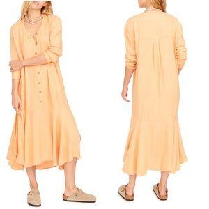 Free People Mathilda Henley shirt dress size large
